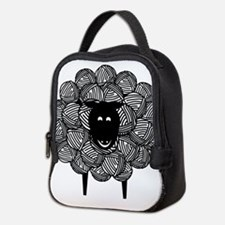 Yarny Sheep for Lights Neoprene Lunch Bag
