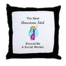 Social Worker Idol Throw Pillow