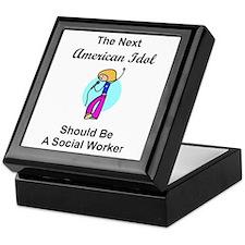 Social Worker Idol Keepsake Box