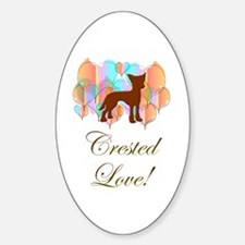 Crested Love! Oval Decal