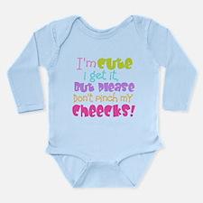 I'm Cute, I get It Long Sleeve Infant Bodysuit