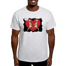Meerkat Lovers Ash Grey T-Shirt