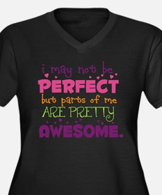 I may not be Perfect Women's Plus Size V-Neck Dark