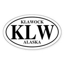 Klawock Oval Decal