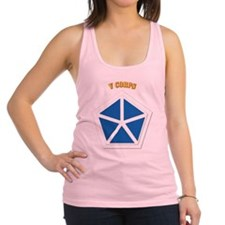 SSI - V Corps With Text Racerback Tank Top