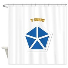SSI - V Corps With Text Shower Curtain