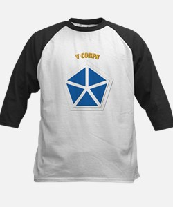 SSI - V Corps With Text Kids Baseball Jersey