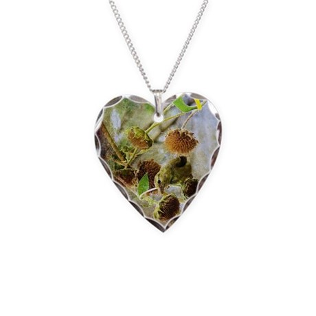Goldfinch Necklace Heart Charm