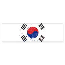 South Korean Flag (Punk) Bumper Bumper Sticker