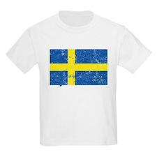 Swedish Flag (Punk) Kids T-Shirt