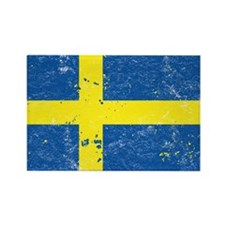 Swedish Flag (Punk) Rectangle Magnet