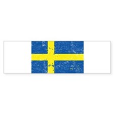 Swedish Flag (Punk) Bumper Bumper Sticker