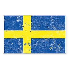Swedish Flag (Punk) Rectangle Decal