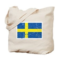Swedish Flag (Punk) Tote Bag