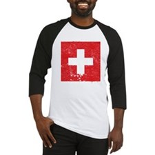 Swiss Flag (Punk) Baseball Jersey