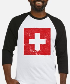 Swiss Flag (Punk) Baseball Jersey