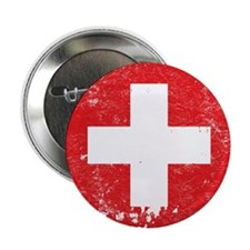 """Swiss Flag (Punk) 2.25"""" Button (10 pack)"""
