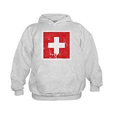 Swiss Flag (Punk) Hoodie