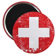 "Swiss Flag (Punk) 2.25"" Magnet (10 pack)"