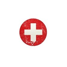 Swiss Flag (Punk) Mini Button