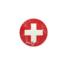 Swiss Flag (Punk) Mini Button