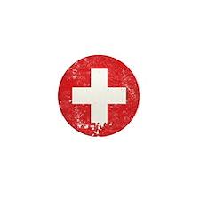 Swiss Flag (Punk) Mini Button (10 pack)