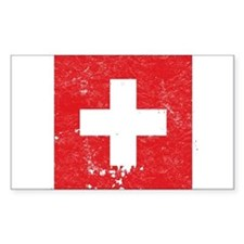 Swiss Flag (Punk) Rectangle Decal