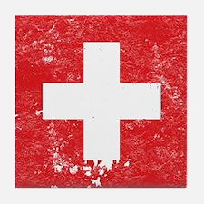 Swiss Flag (Punk) Tile Coaster