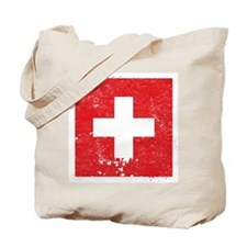 Swiss Flag (Punk) Tote Bag