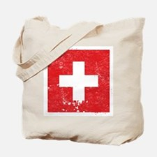 Swiss Flag (Punk) Tote Bag