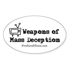 TV Mass Deception Oval Decal