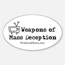 TV Mass Deception Oval Decal