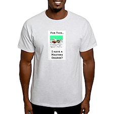 Paperwork Nightmare Ash Grey T-Shirt