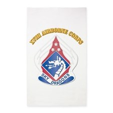 DUI - XVIII Airborne Corps with Text 3'x5' Area Ru