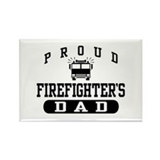 Proud Firefighter's Dad Rectangle Magnet