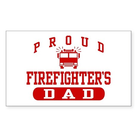 Proud Firefighter's Dad Rectangle Sticker