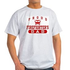 Proud Firefighter's Dad Ash Grey T-Shirt
