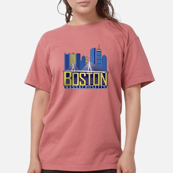 Cute Boston skyline Womens Comfort Colors Shirt