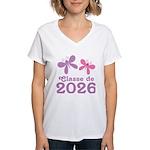 Classe de 2026 Graduation Women's V-Neck T-Shirt