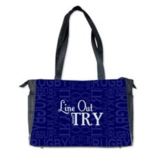 Line Out and Try Rugby Diaper Bag