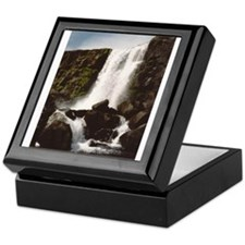 Thingvellir Waterfall Keepsake Box