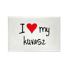 I LOVE MY Kuvasz Rectangle Magnet (10 pack)