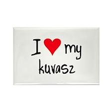 I LOVE MY Kuvasz Rectangle Magnet