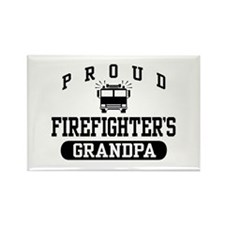Proud Firefighter's Grandpa Rectangle Magnet