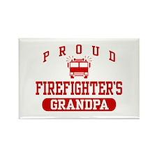 Proud Firefighter's Grandpa Rectangle Magnet