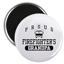 Proud Firefighter's Grandpa Magnet