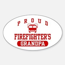 Proud Firefighter's Grandpa Oval Decal