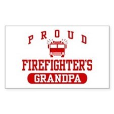 Proud Firefighter's Grandpa Rectangle Decal
