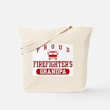 Proud Firefighter's Grandpa Tote Bag