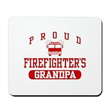 Proud Firefighter's Grandpa Mousepad